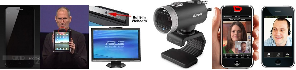 Images of webcams for computers and in smart phones, etc.